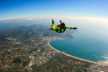 Travel. Launch Of Adventure. Brave Men Prefer Extreme Sport. The Sky Without Borders.