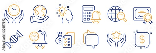 Fotografía Set of Education icons, such as Idea, Payment message