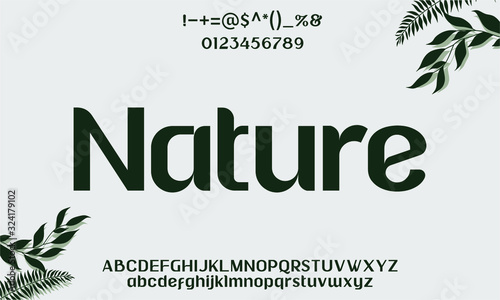 Foto ORGANIC LUXURY TYPEFACE FONT INSPIRED BY NATURE