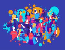Persone Che Festeggiano E Ballano Insieme - Illustrazione Vettoriale