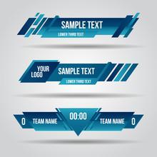 Lower Third Blue Design Templa...