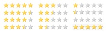 Vector Full 5 Star Rating Icon...