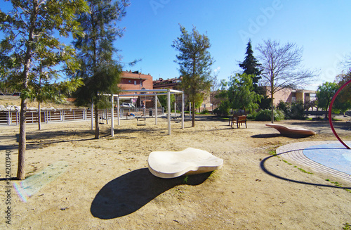 Parque infantil en Masquefa, Anoia, Barcelona, Catalunya, Spain, Europe Wallpaper Mural