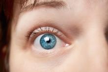The Wide Open Blue Eye Of A Yo...