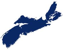 Karte Von Nova Scotia In Blaue...