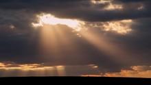 Beautiful Sun Beams On A Drama...