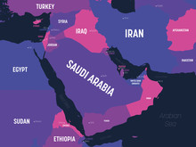 Middle East Map. High Detailed...