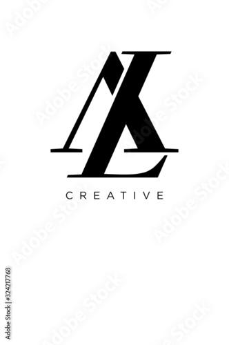 Photo al logo design vector icon