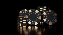 Modern Black And Gold Casino C...