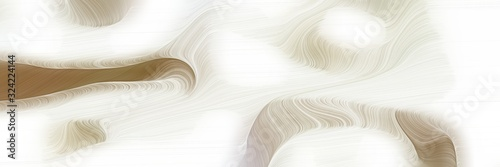 Obraz moving horizontal header with linen, pastel brown and tan colors. dynamic curved lines with fluid flowing waves and curves - fototapety do salonu