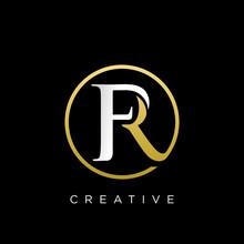 Fr Circle Logo Design Vector
