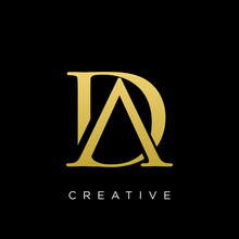 Da Or Ad Logo Design Vector Icon