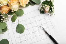 Wedding Text On Date In Calendar, Valentine's Day, Wedding Gift