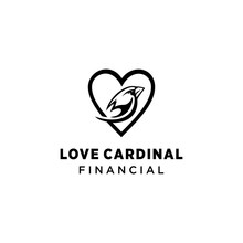 Creative Luxury Cardinal Bird Logo Template Vector Icon