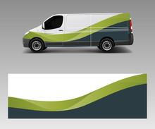 Cargo Van Decal With Green Wav...