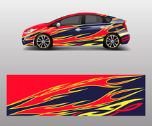 Car Wrap Decal Design Vector. ...