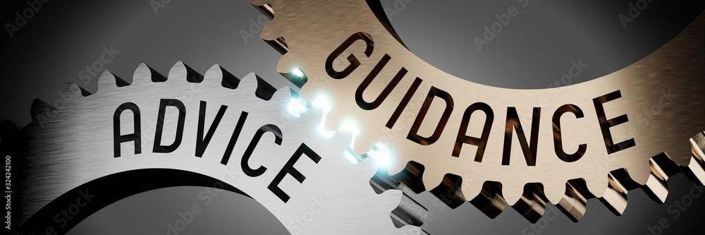 Fototapeta Advice, guidance - gears concept - 3D illustration
