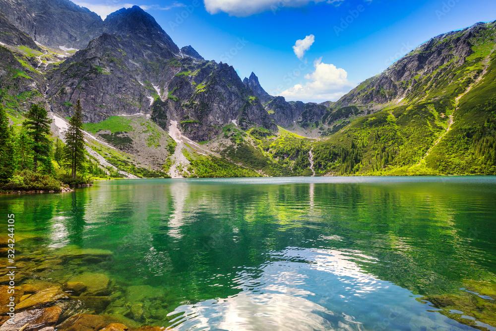 Fototapeta Beautiful Eye of the Sea lake in Tatra mountains, Poland
