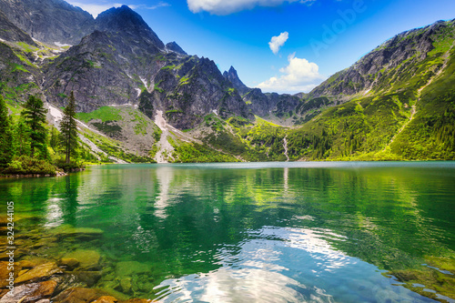 Fototapeta Beautiful Eye of the Sea lake in Tatra mountains, Poland obraz
