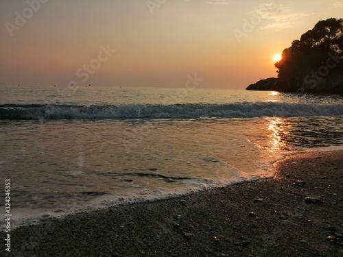 spiaggia tramonto Tapéta, Fotótapéta