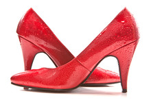 Wet Red Shoes