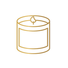 Golden Scented Candle Icon- Ve...