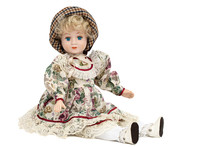 Porcelain Doll,  Isolated On W...