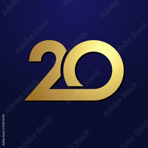 Billede på lærred 20 th anniversary numbers