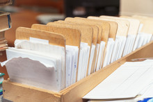 Archival Card File In A Wooden...
