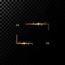 Vector Golden Frame With Light...