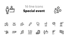 Special Event Line Icon Set. A...