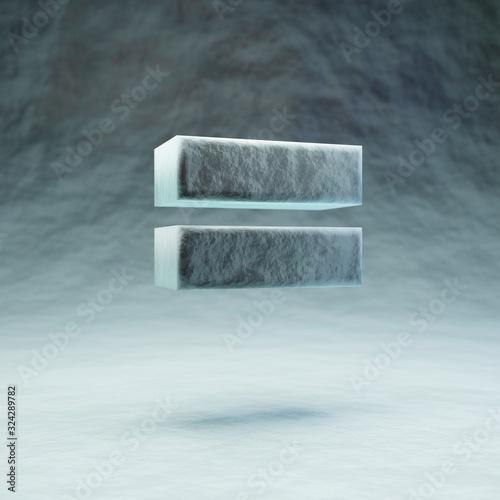 Obraz na plátně Micro equals symbol. 3D rendered microscopic font.