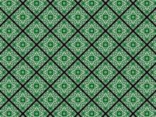 Green Diamond Seamless Pattern
