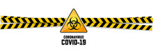 Warning Coronavirus Sign On Wh...