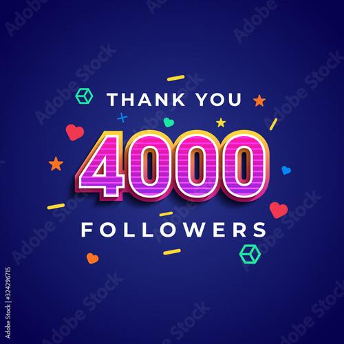 Valokuva Thank you 4000 followers design