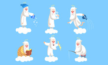 Funny Elderly Male Angel Chara...