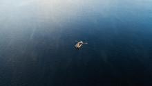 Aerial Boat On The Lake. Aeria...