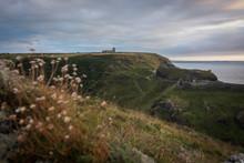 UK, England, Cornwall, Tintagel Castle At The Coast