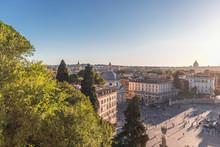 Italy, Rome, Clear Sky Over Pi...