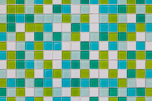 Coloured Tiles Made Of Glass, Close-up
