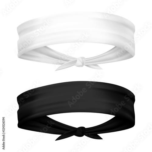 Valokuva Band for head isolated. Realistic headband