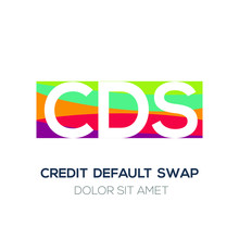 Creative Colorful Logo , CDS Mean (credit Default Swap) .