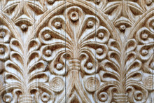Part Of Carved Wooden Door