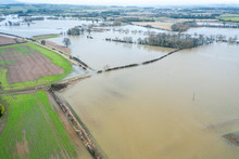 River Severn In Flood At Atcha...