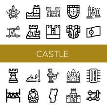 Set Of Castle Icons