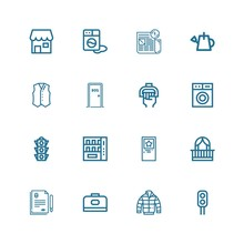 Editable 16 Front Icons For We...