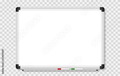 Empty white marker board on transparent background Fotobehang