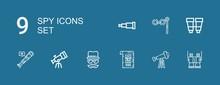 Editable 9 Spy Icons For Web A...