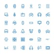 Editable 36 gadget icons for web and mobile