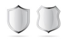 Silver Chrome Vector Shield